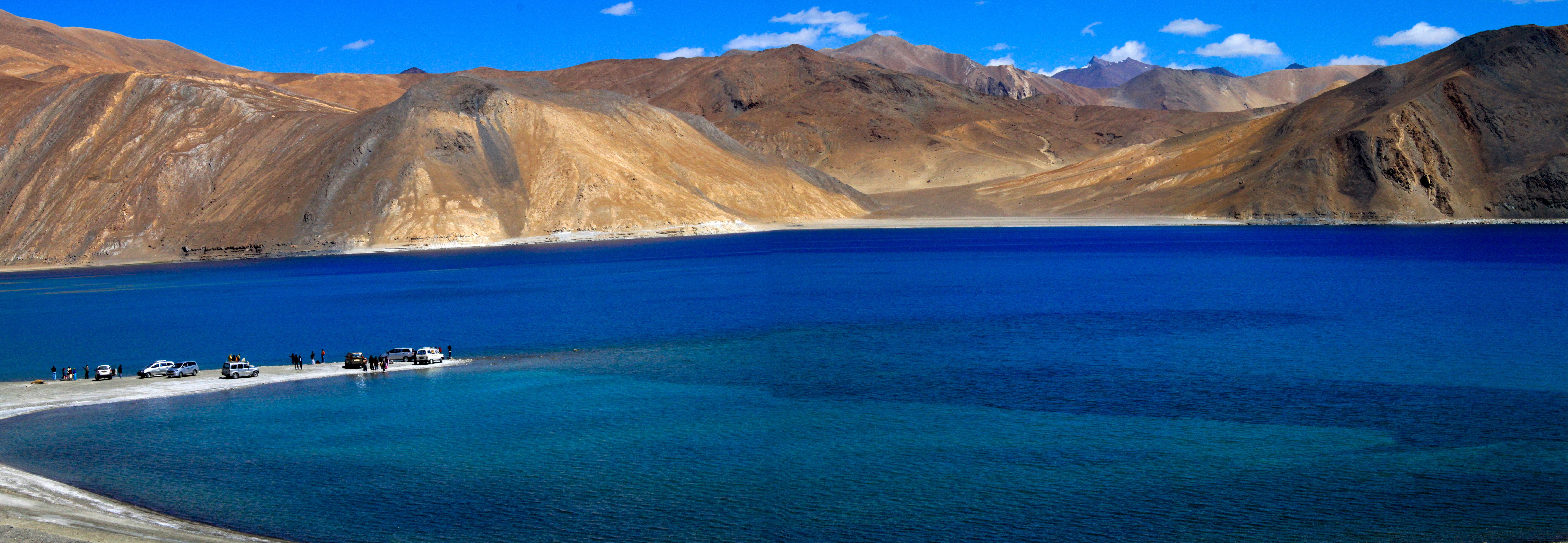 Pangong Tso lake in Leh. Image Courtesy: Wikipedia
