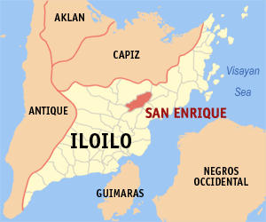 Map of Iloilo showing the location of San Enrique