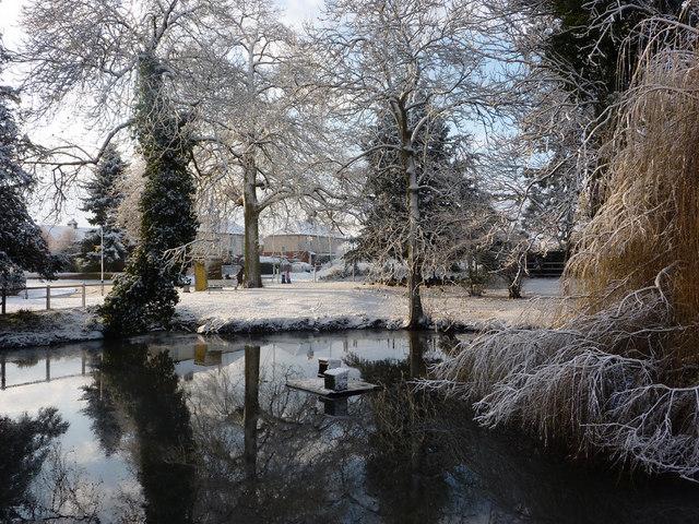 Pond in Needham Market - geograph.org.uk - 1624264