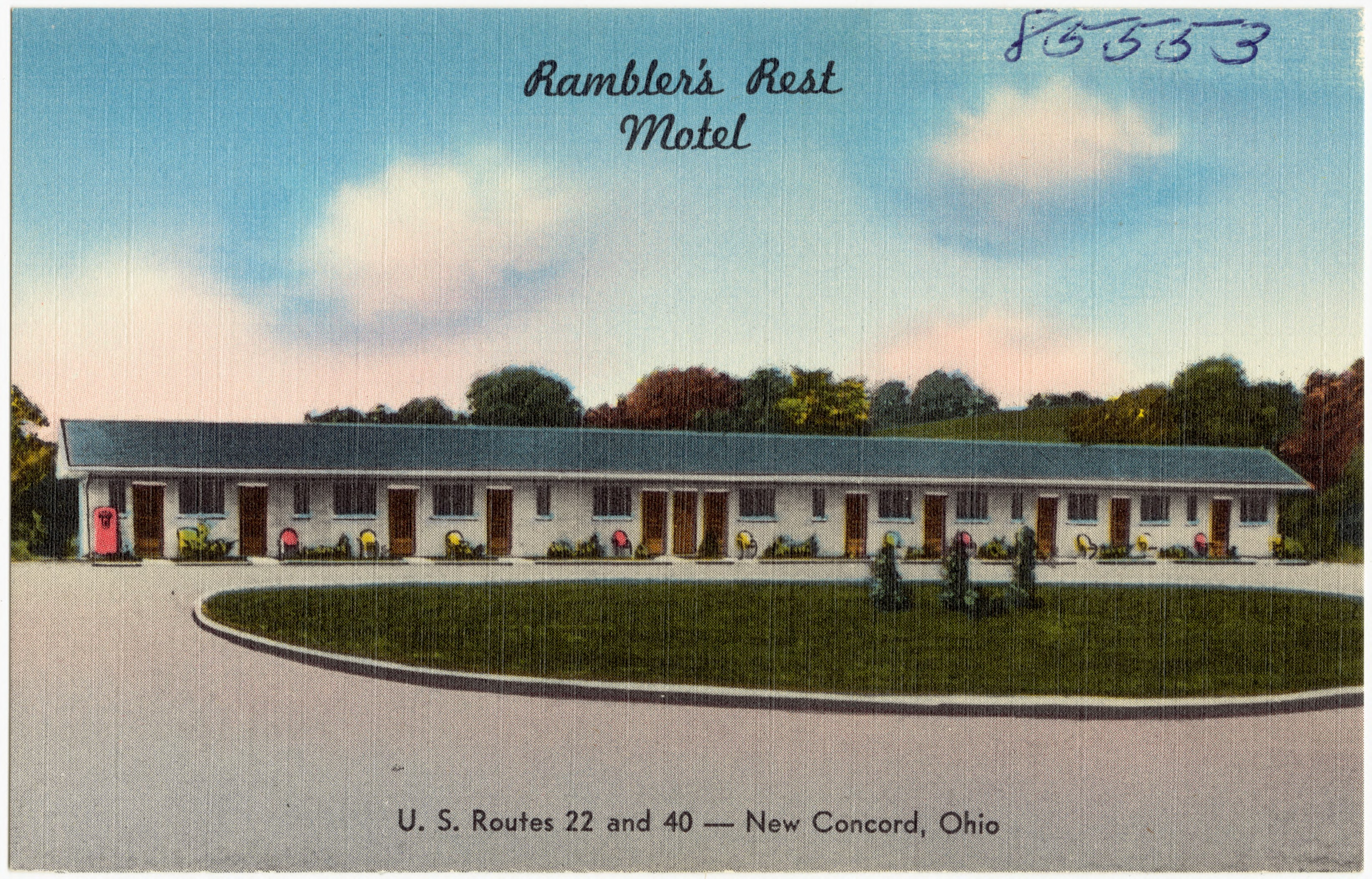 Ohio muskingum county new concord - File Rambler S Rest Motel U S Routes 22 And 40 New Concord
