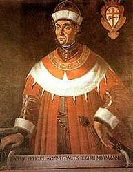 Roger I of Sicily returned Malta to Christian rule. Roger I of Sicily.jpg