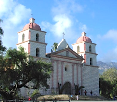 File:Santa Barbara mission CA1.jpg