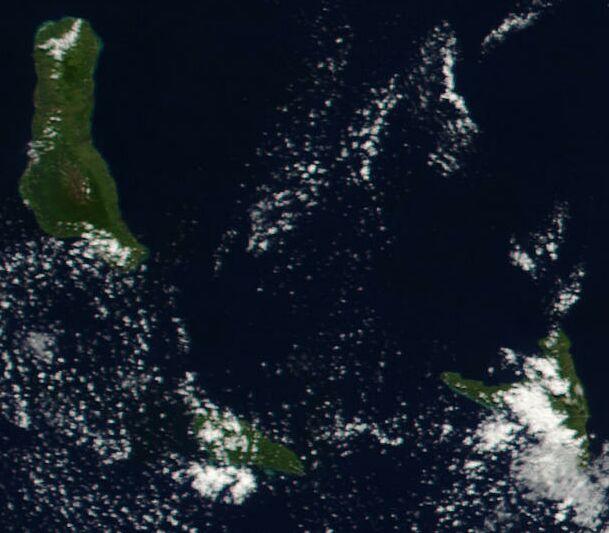 Satellitenaufnahme Komoren