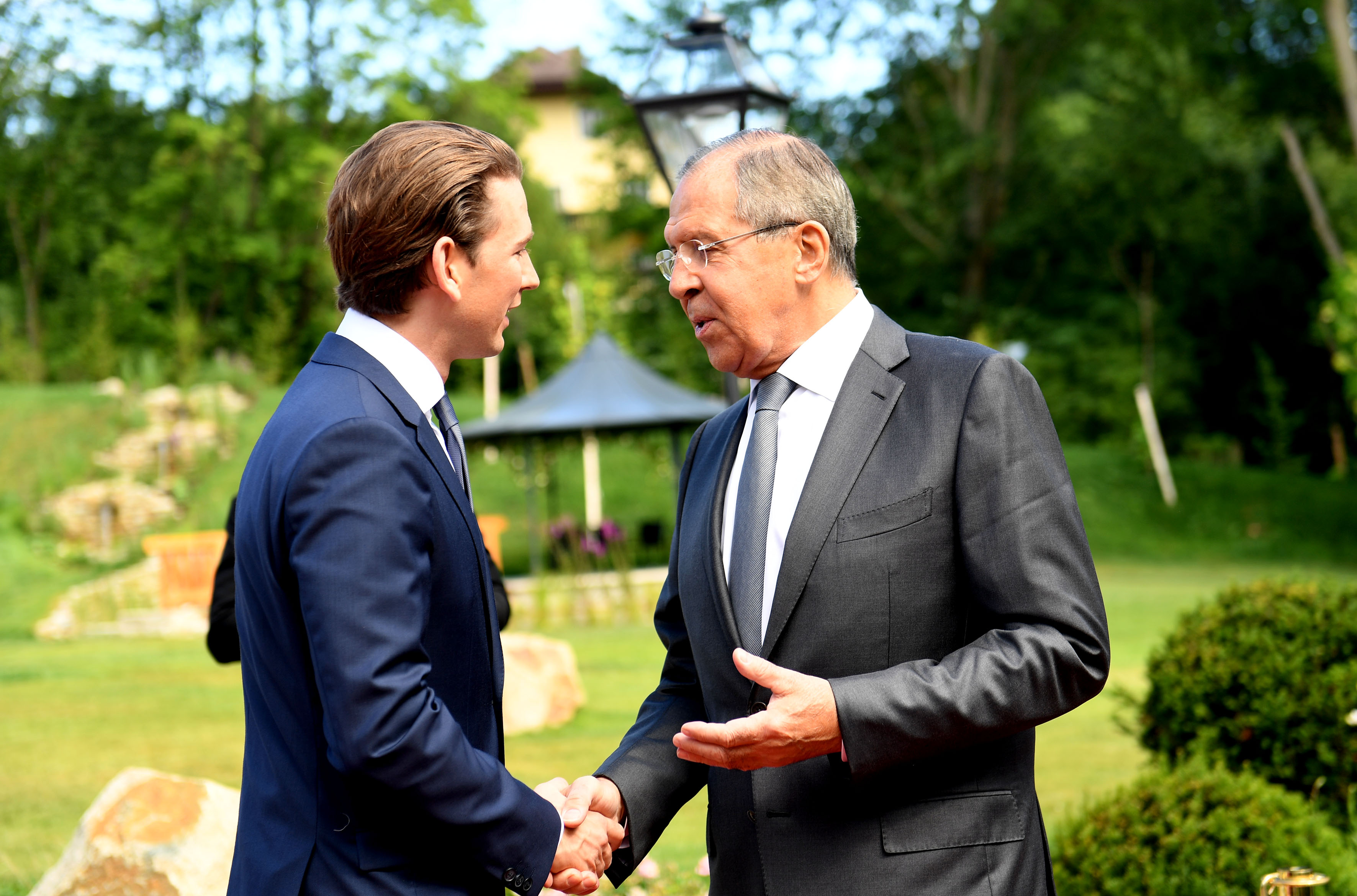Kurz with Russian Foreign Minister Lavrov, 11 July 2017
