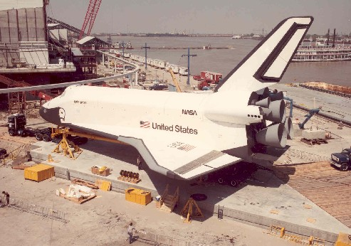 space shuttle enterprise at the world's fair.