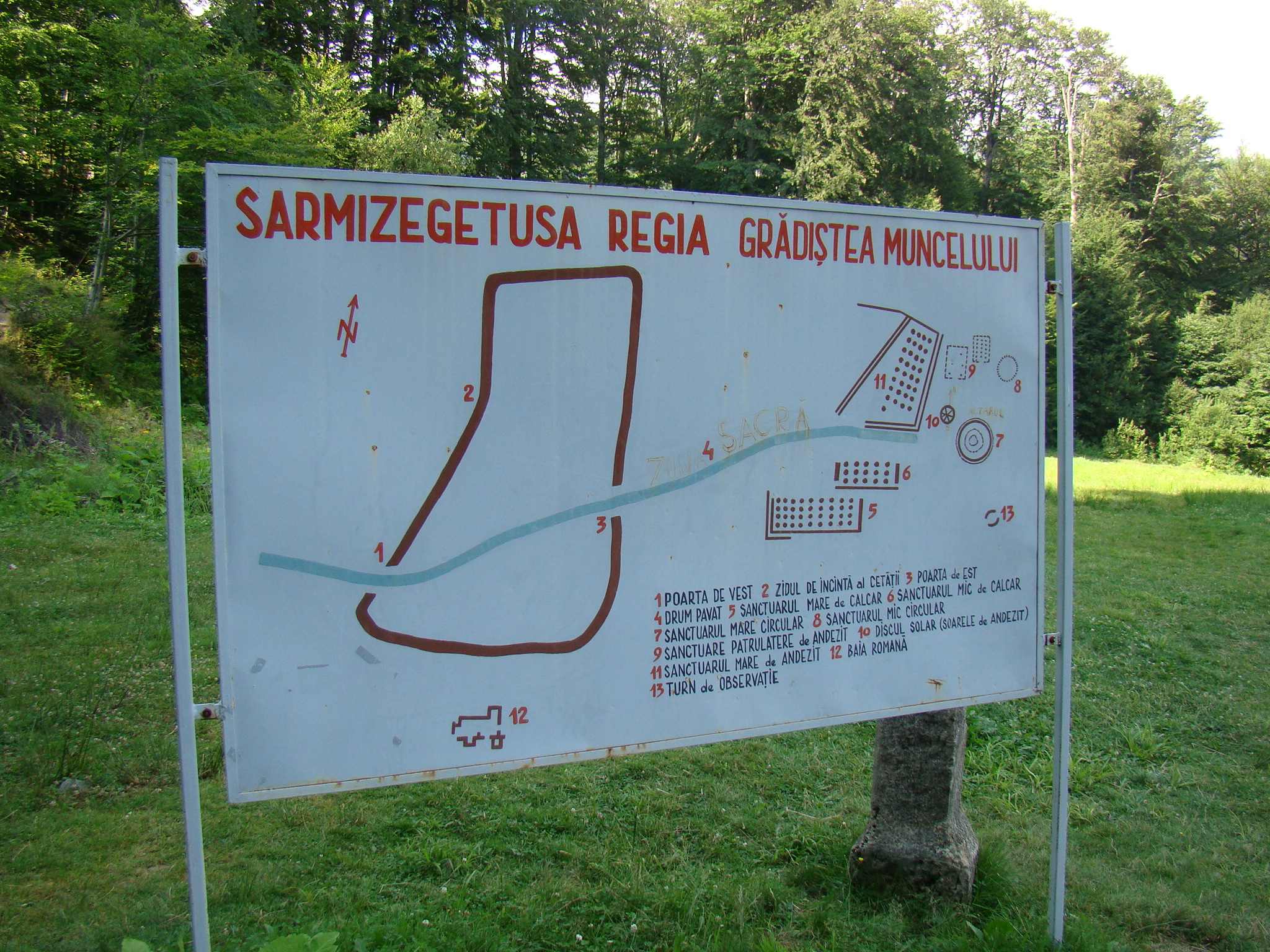 File Situl Arheologic Sarmizegetusa Harta Jpg Wikimedia Commons