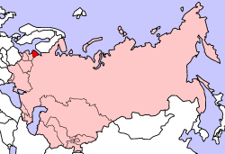 Location of Estonian SSR