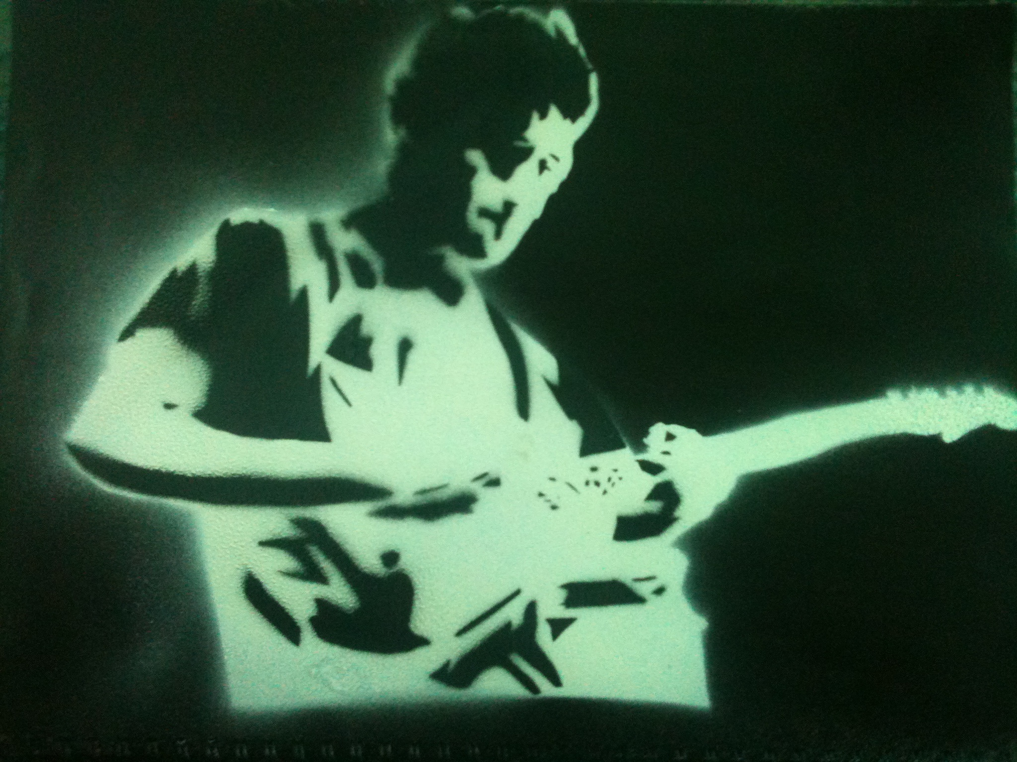File:Stencil and spray paint art of Tewa Lascelles, guitarist of ...