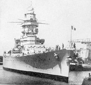 A very modern Dunkerque-class battleship battleship commissioned in 1937, Strasbourg was potentially a quite substantial threat to British control of the sealanes were she to fall into Axis hands. Strasbourg-2.jpg