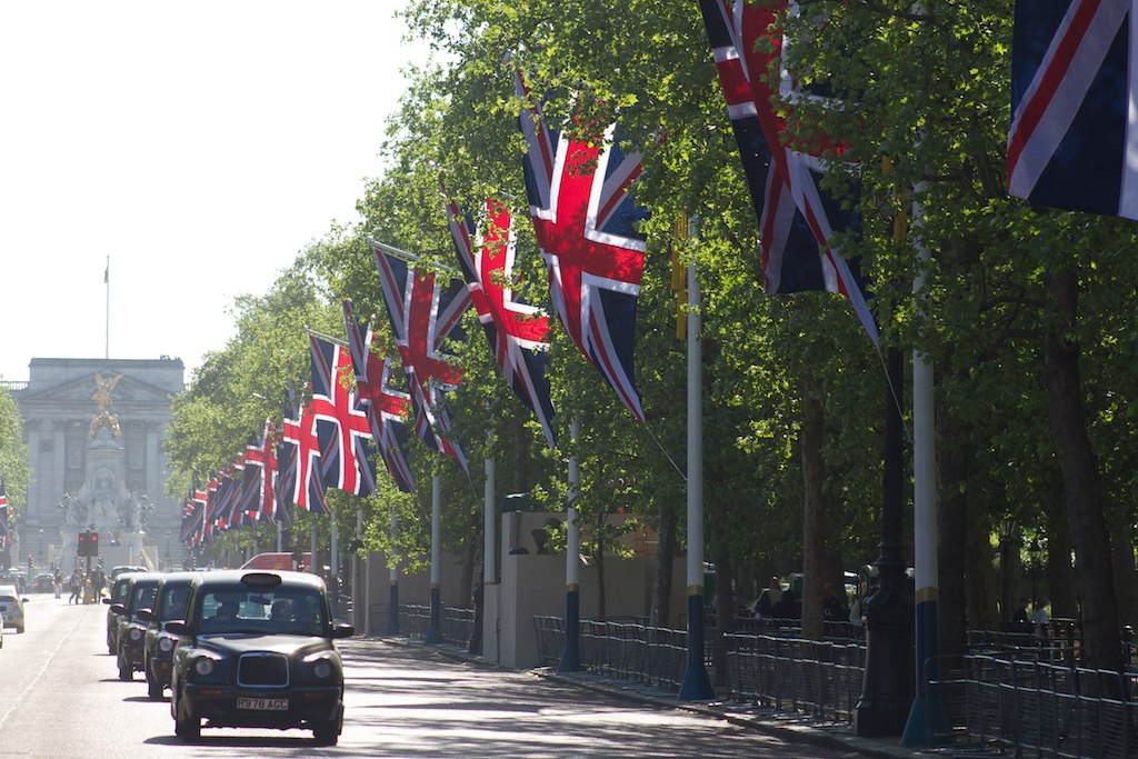 the wedding of prince william of wales and catherine middleton. File:The Mall decorated for