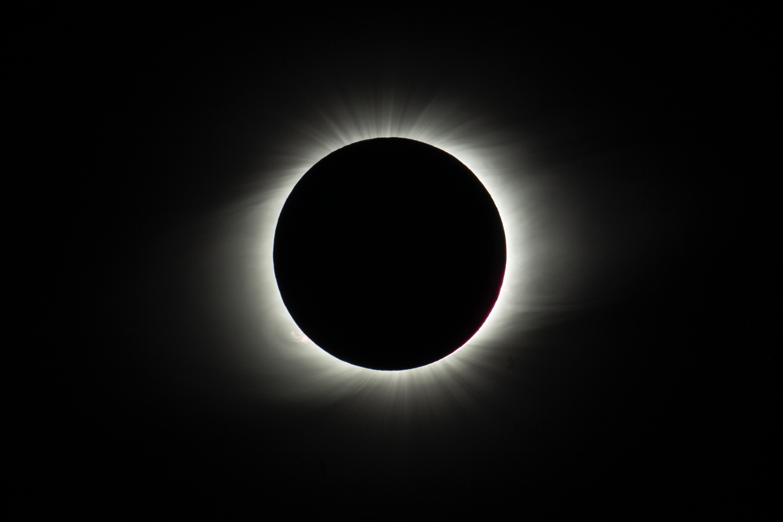 Вид полного затмения из обсерватории Ла-Силья в Чили