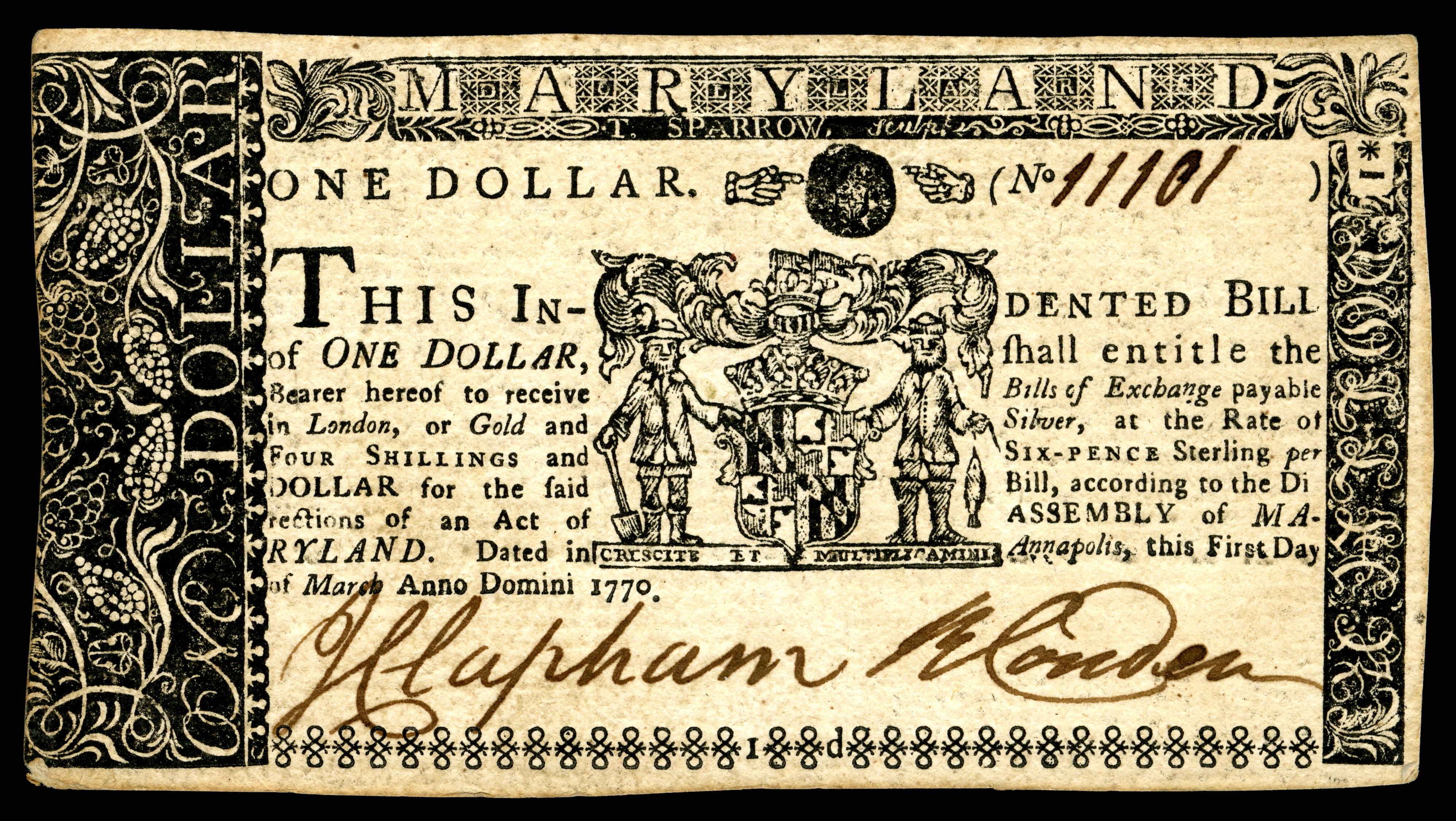 1770 paper money