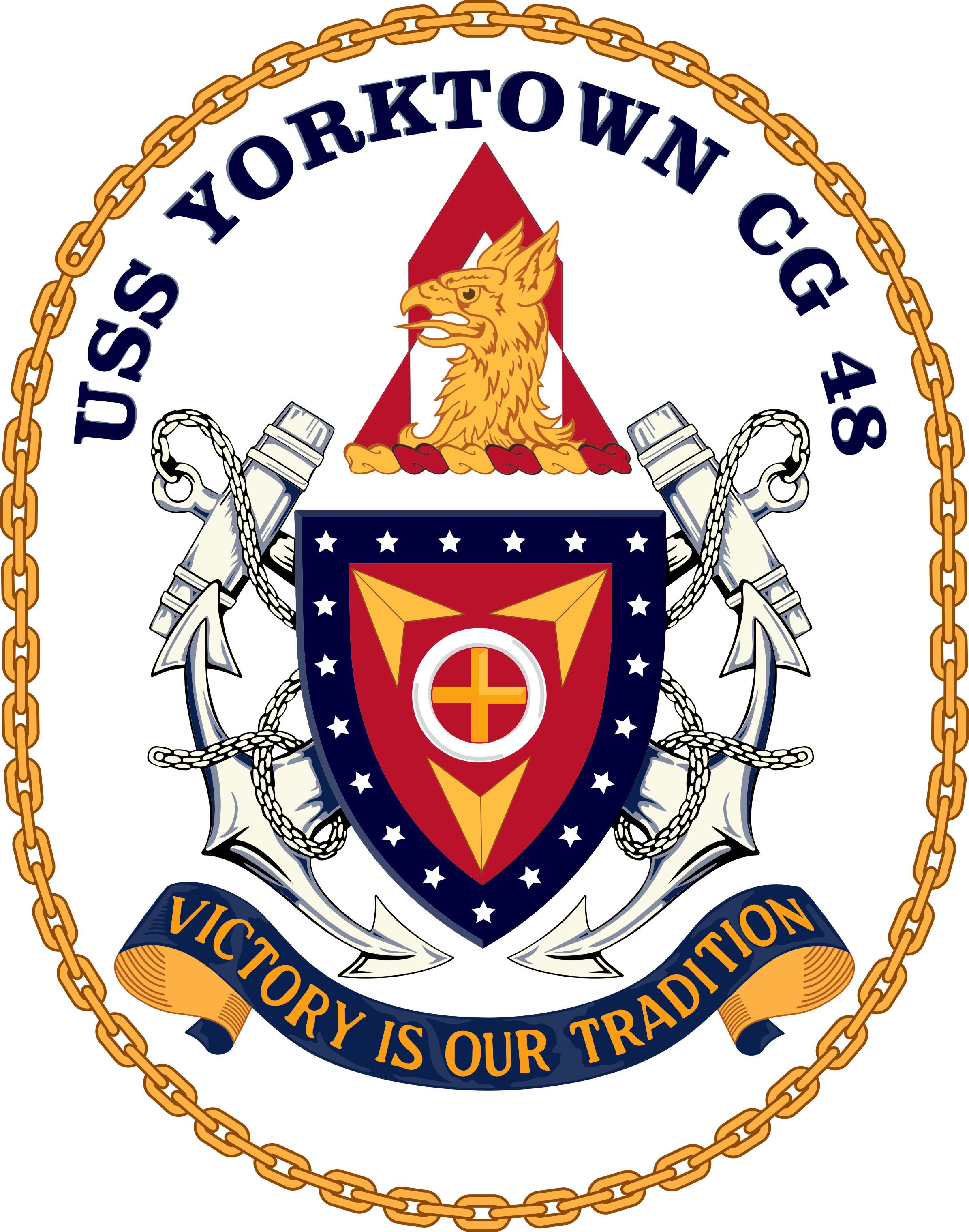 USS Yorktown CG-48 Crest