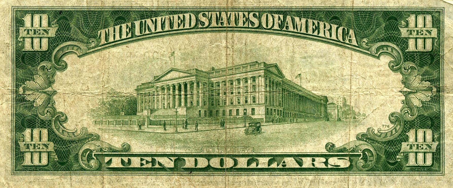 Similiar US 10 Dollar Bill Back Keywords