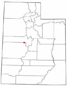 Location of Leamington, Utah