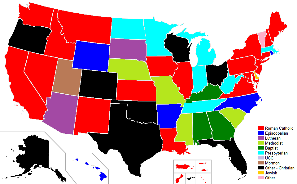 FileUnited States Governors Religion Mappng Wikimedia Commons - Religion map of world 2014