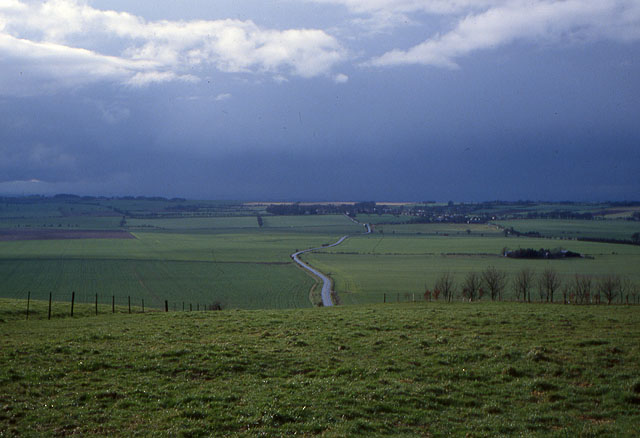 View towards Broad Hinton from Hackpen Hill - geograph.org.uk - 1086009