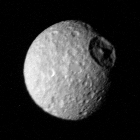 Mimas at a range of 425,000 km from Voyager 1
