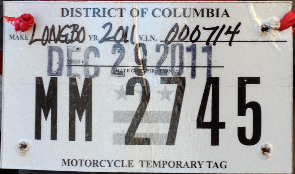 File:Washington, D C  temporary motorcycle license plate JPG