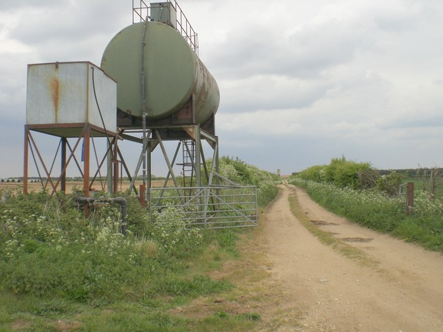 File:Water tanks east of Church Farm, Bircham Newton - geograph ...