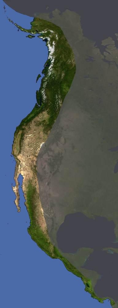FileWest Coast Of North America Satellite Orthographicjpg - North america satellite image