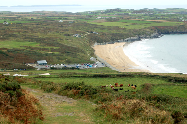 Whitesands Bay seen from the slopes of Carn Llidi - geograph.org.uk - 1529954