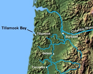Tillamook Bay bay in Oregon, USA