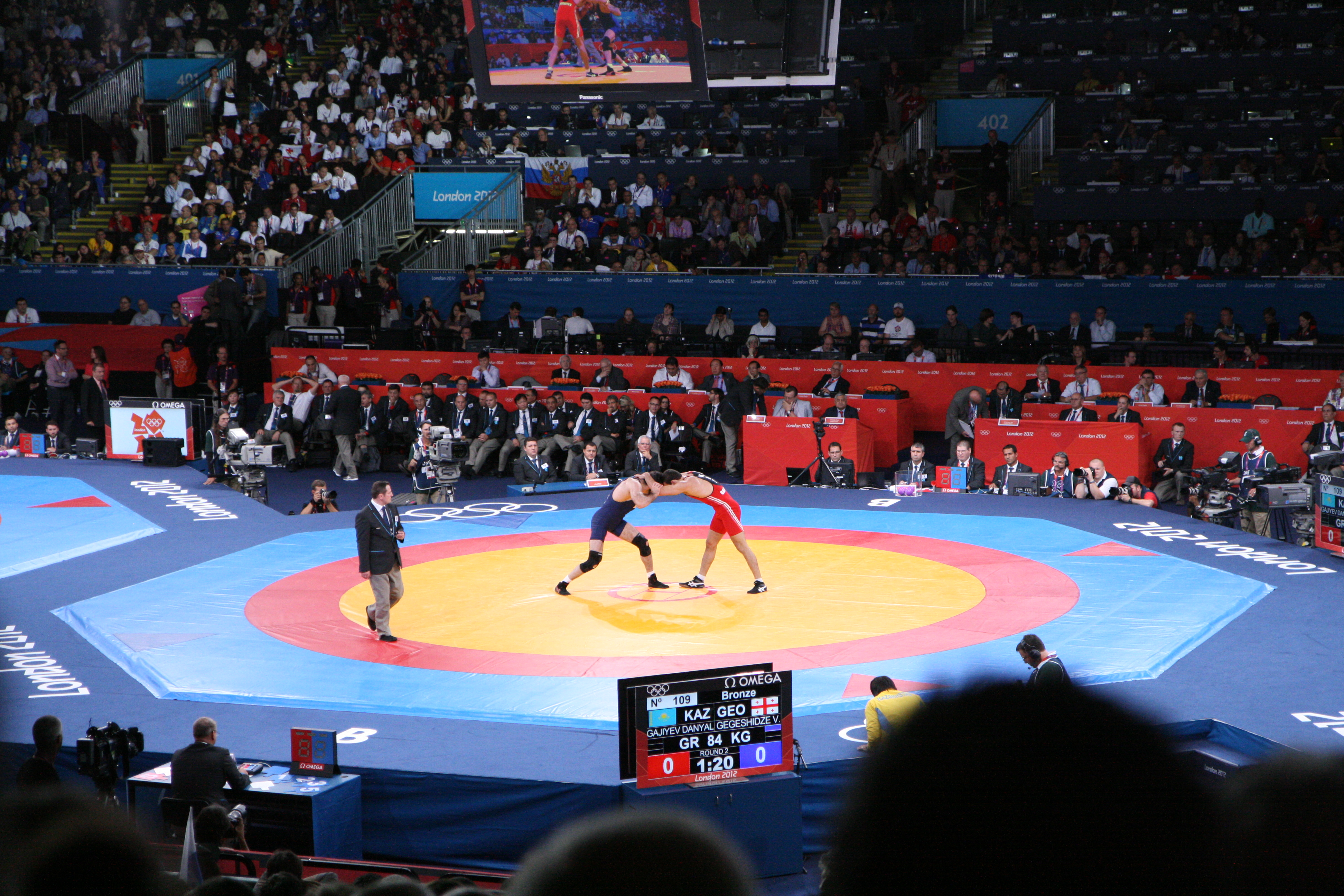 wrestlers at the 2012 summer olympics