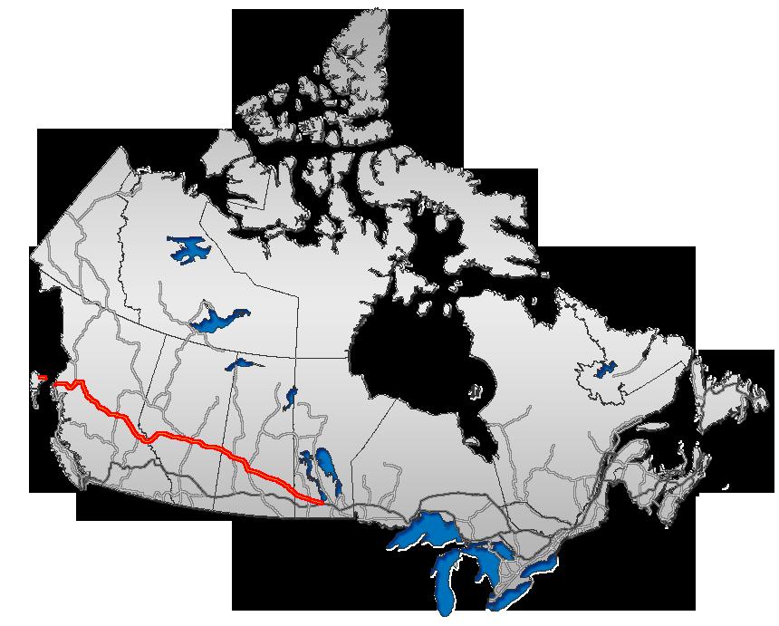 Map Of Yellowhead Highway Canada Yellowhead Highway   Wikipedia