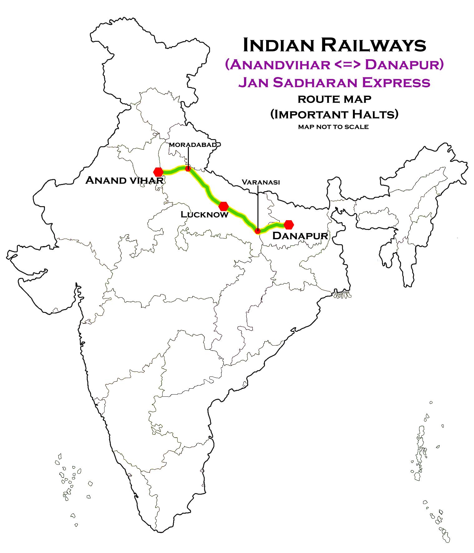 Danapur Howrah Express Route Map