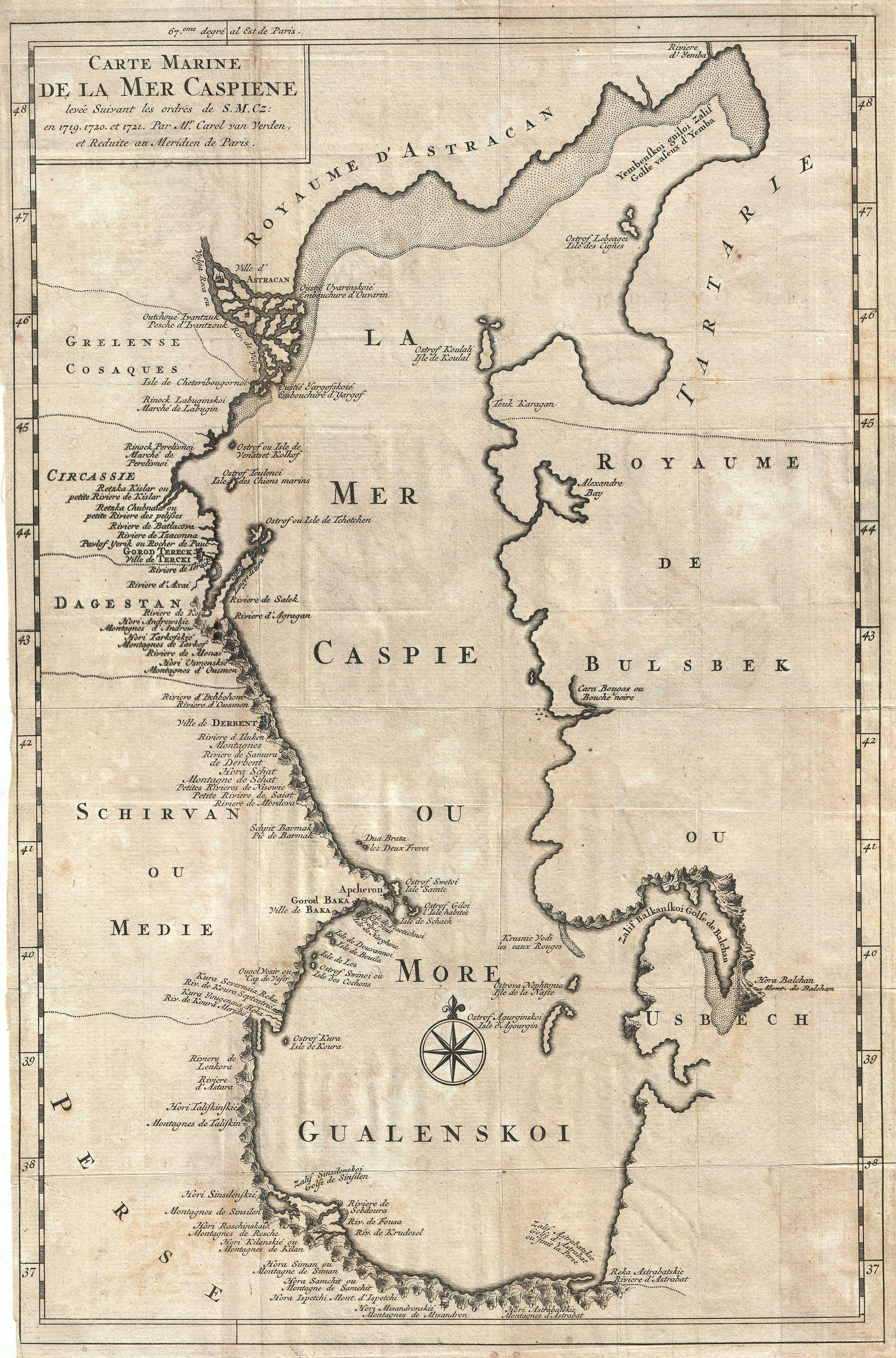 File:1730 Van Verden Map of the Caspian Sea - Geographicus ...
