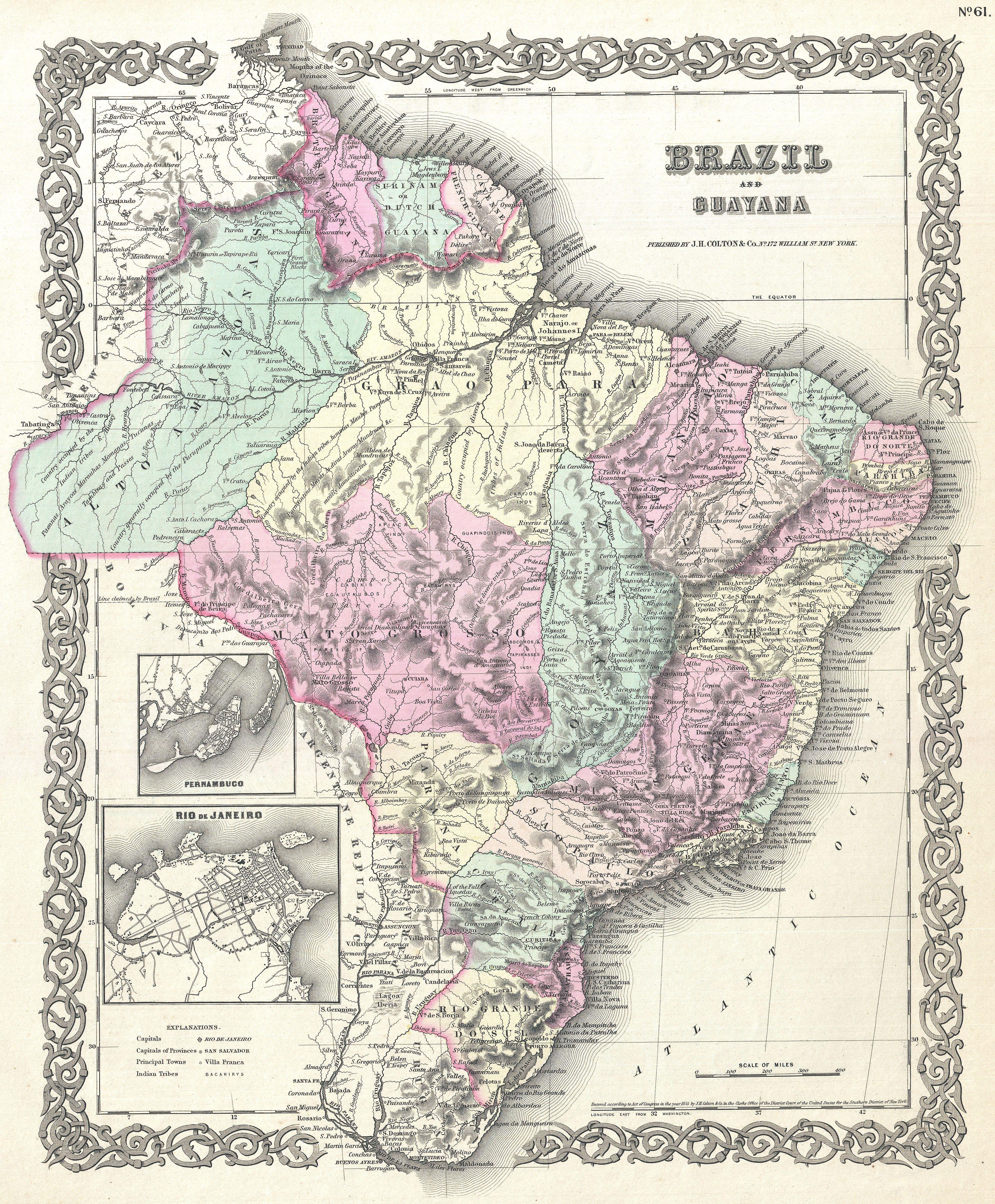 map of south america and brazil kids