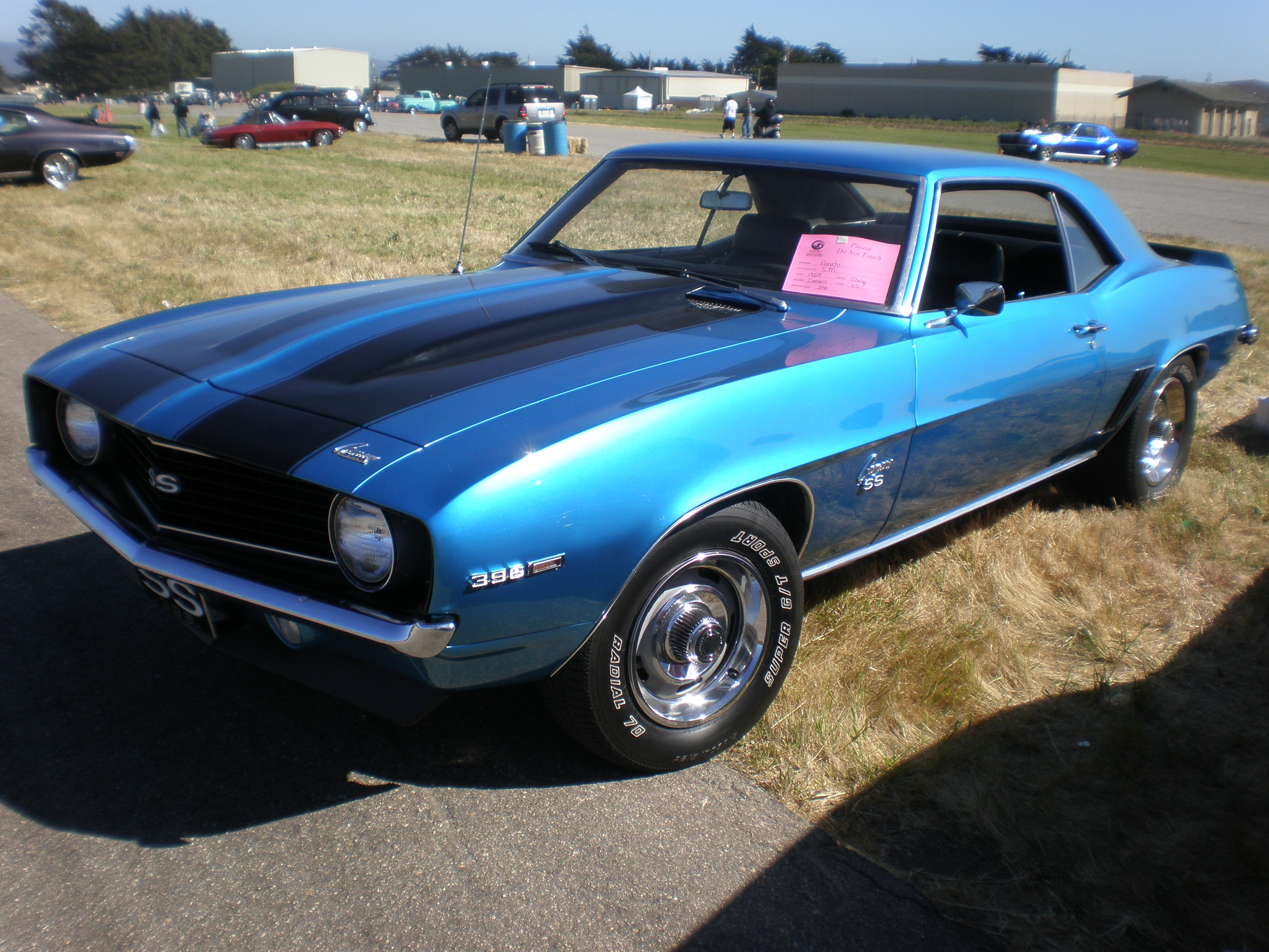 File 1969 Blue Chevrolet Camaro Ss Left Side Jpg