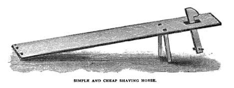 Simple Shaving Horse Plans