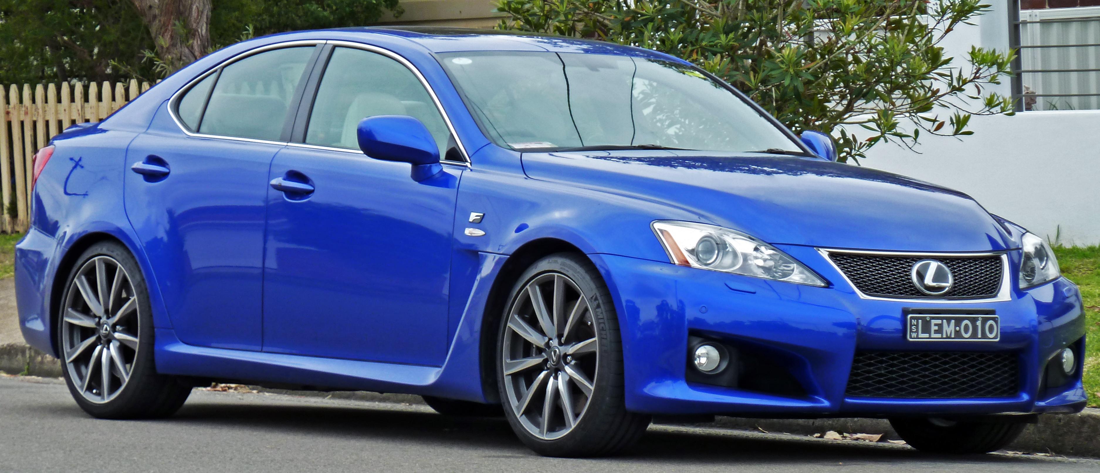 File:2008 2010 Lexus IS F (USE20R) Sports Luxury Sedan 01.