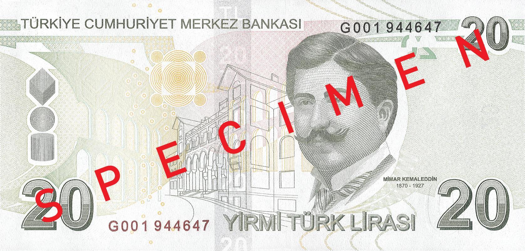 20 турецких лир