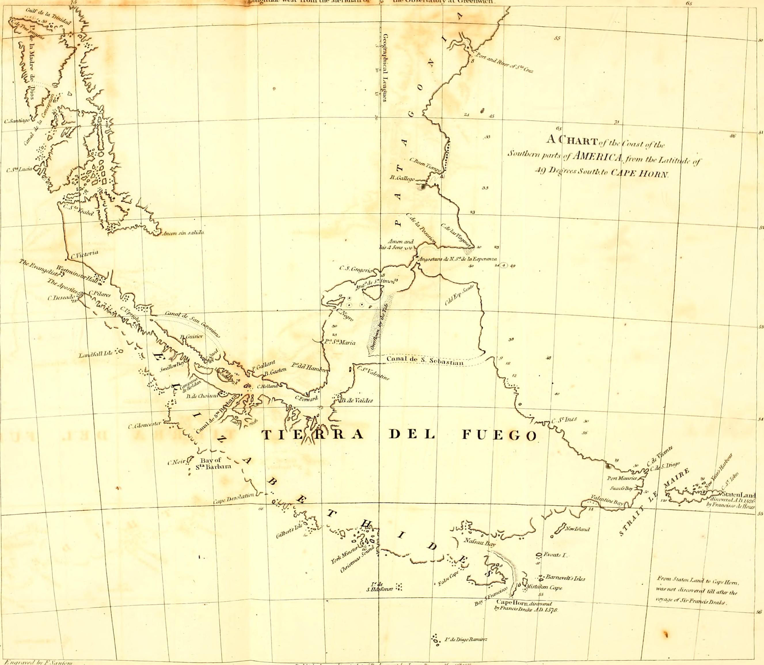 Fly Sea Charts: A chronological history of the discoveries in the South Sea ,Chart