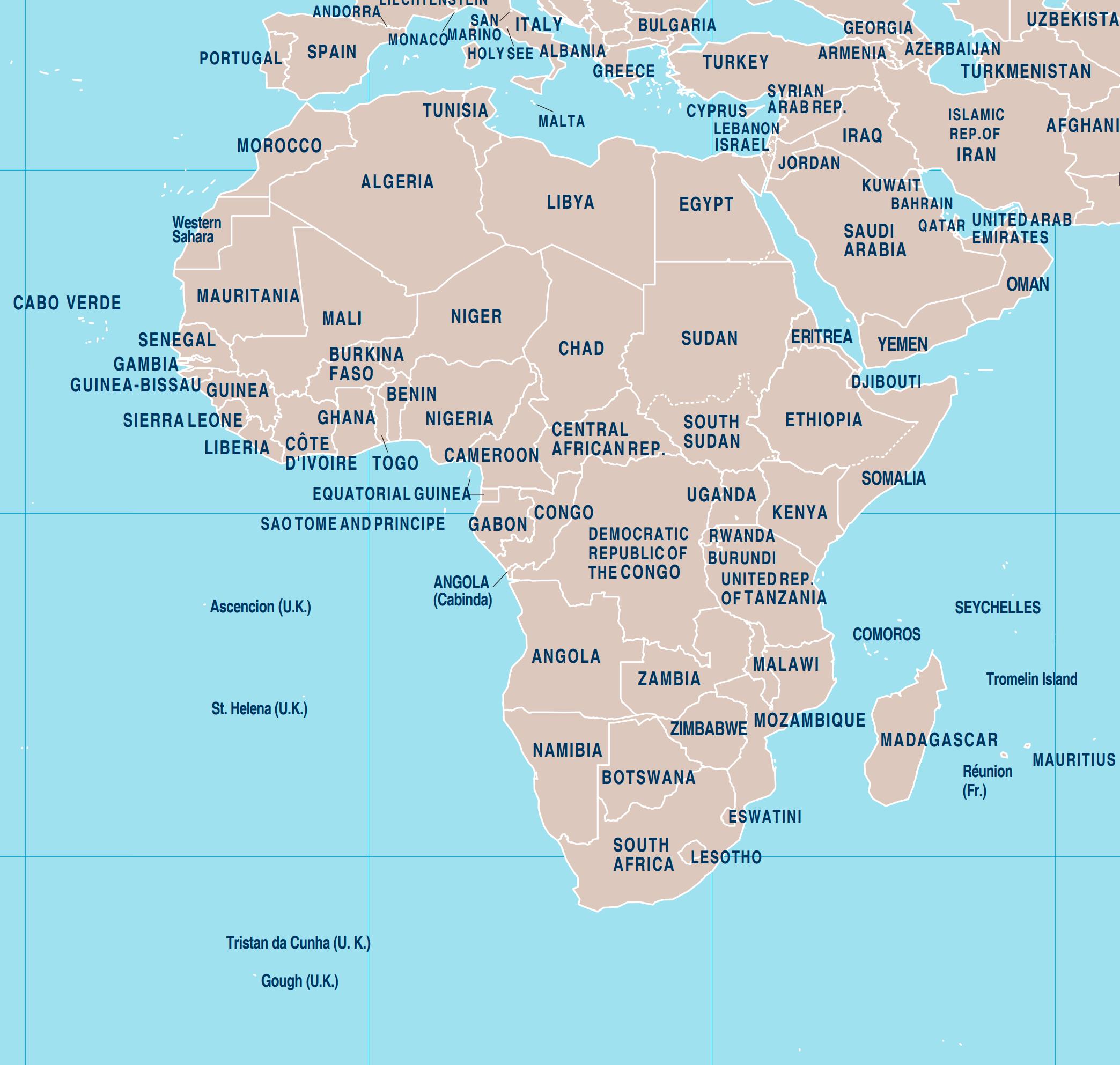 Berkas Africa Political Map Jpg Wikipedia Bahasa Indonesia Ensiklopedia Bebas