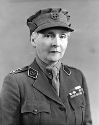 Princess Alice, Countess of Athlone, in Canadian military uniform, c. 1942