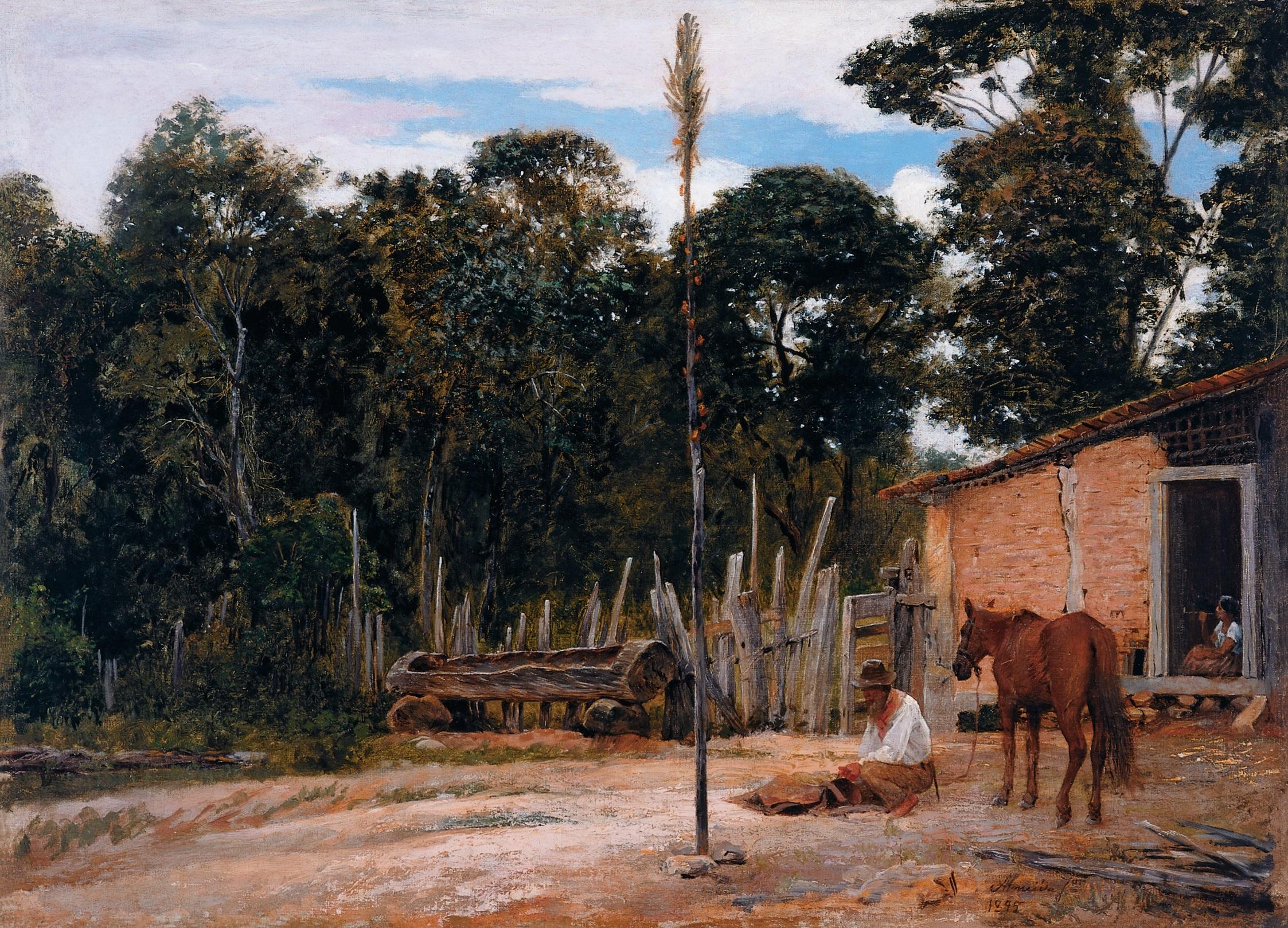 Arquivo: Almeida Júnior - Apertando o Lombilho, 1895.jpg
