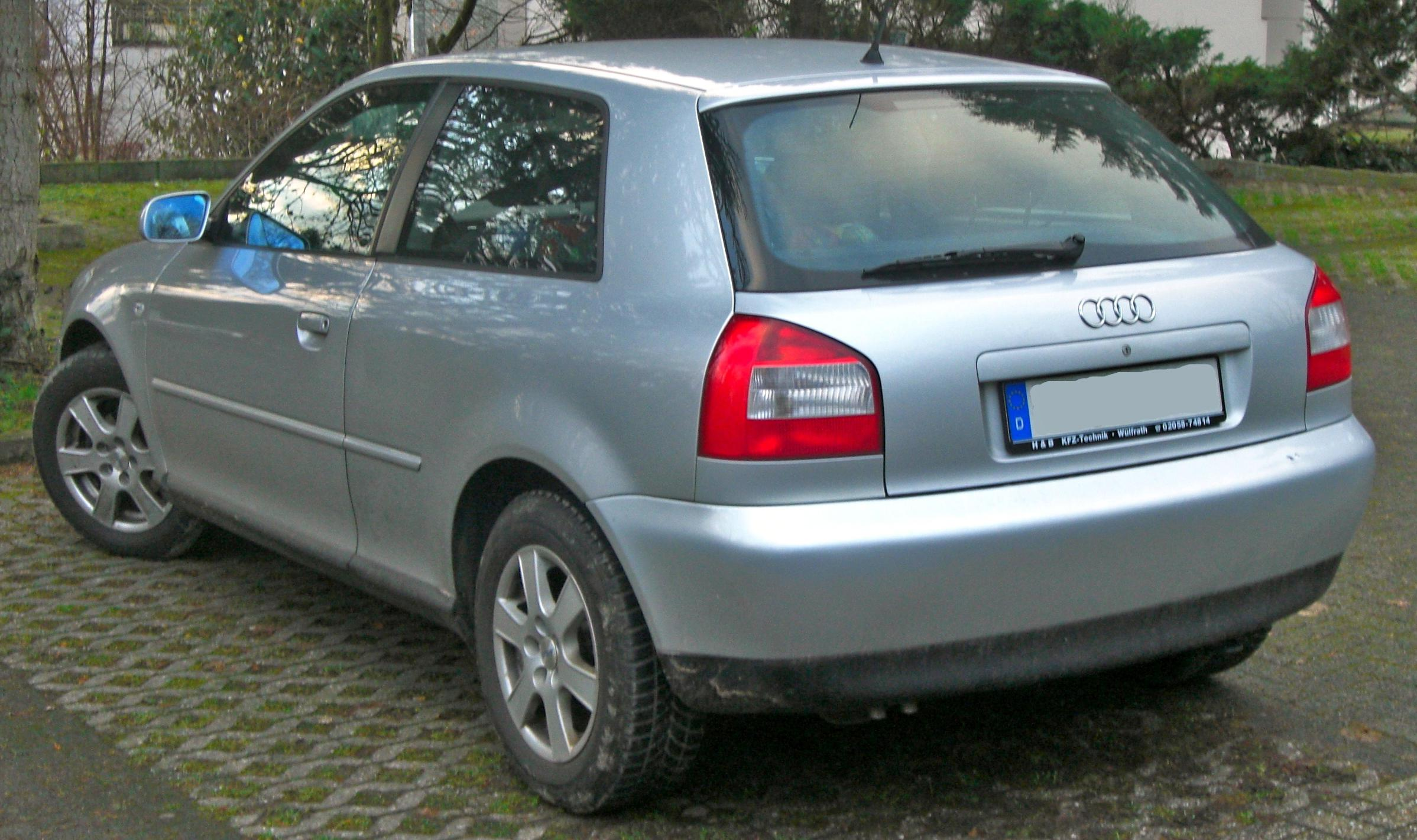 file audi a3 i facelift 2000 2003 rear mj jpg wikimedia commons. Black Bedroom Furniture Sets. Home Design Ideas