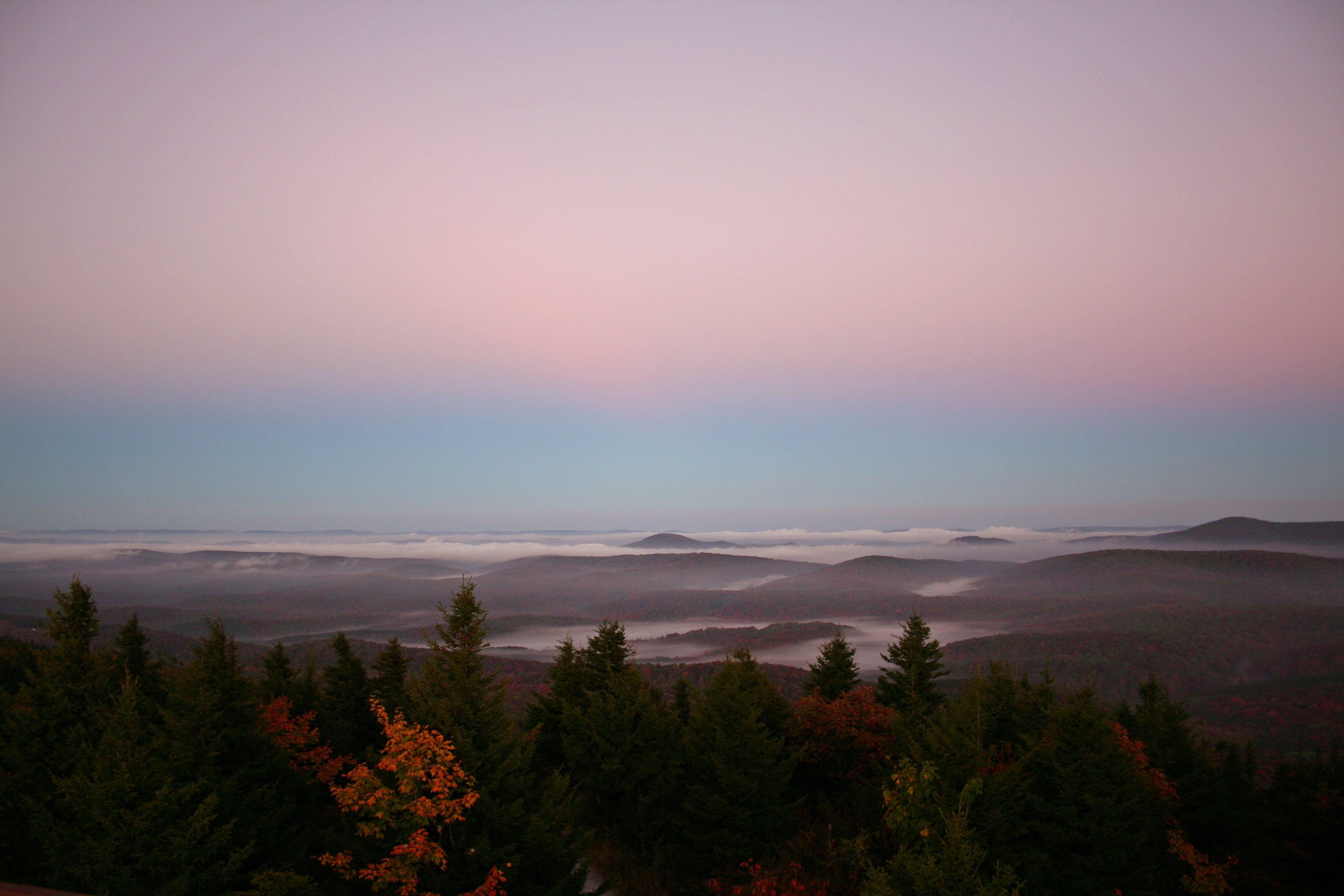 File Autumn Mountain Sky Sunrise Colors West Virginia