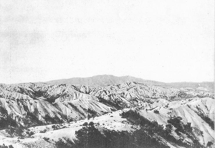 Bald mountains in Korea