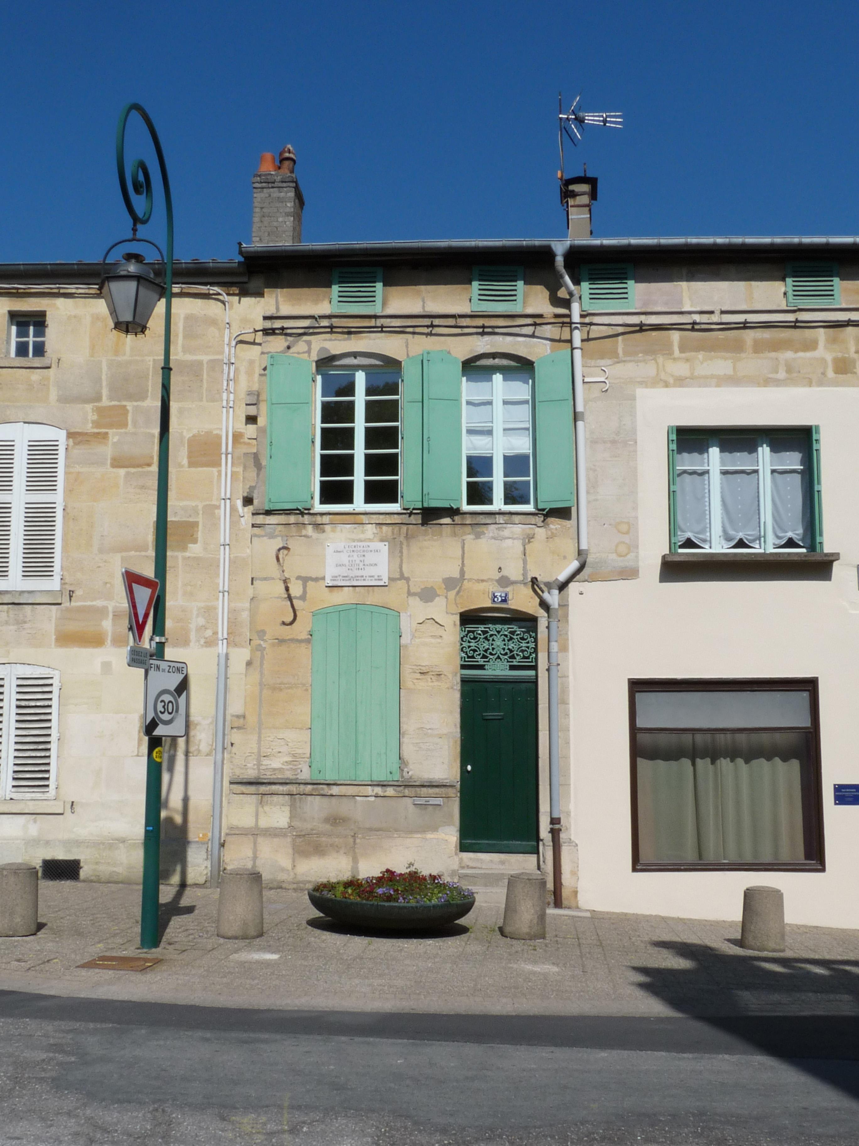 Birth house of Albert Cim in Bar-le-Duc