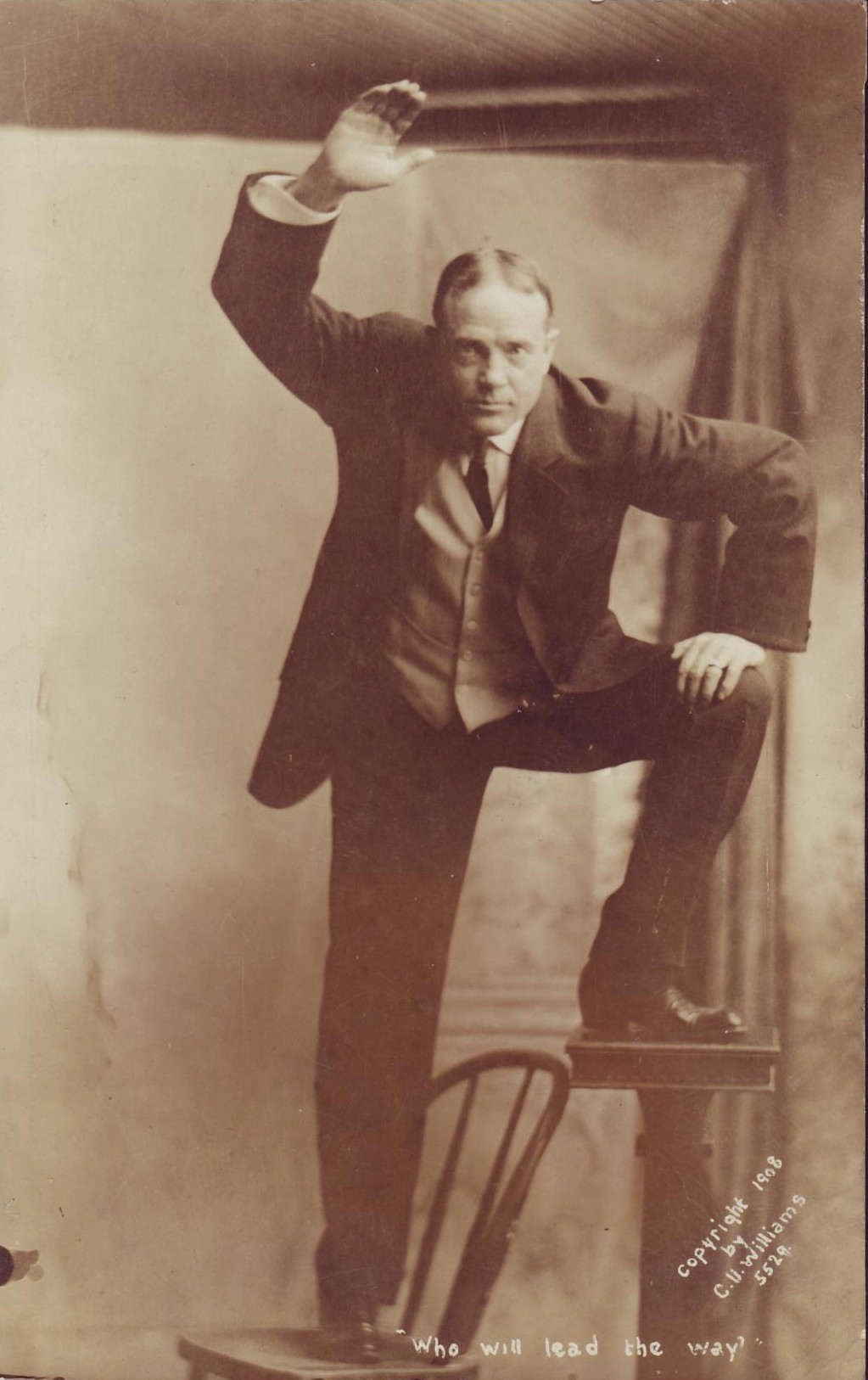 Billy Sunday Preaching Dramatically