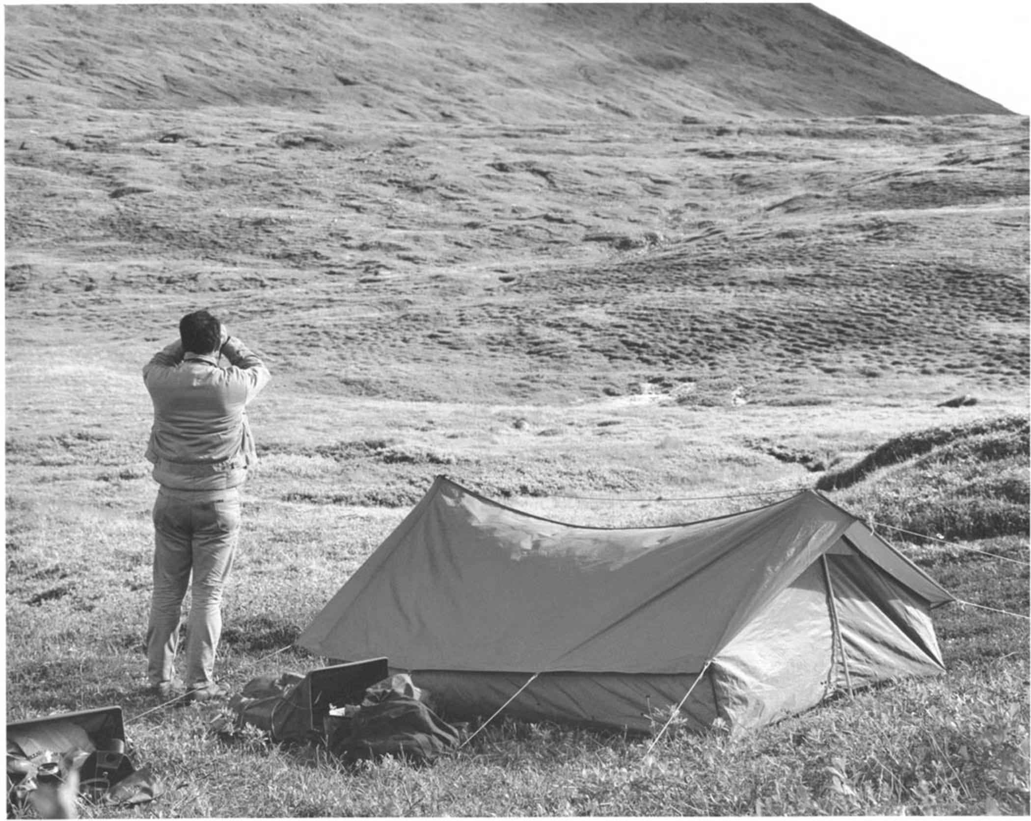 File Black And White Image Of A Camper Tent Jpg
