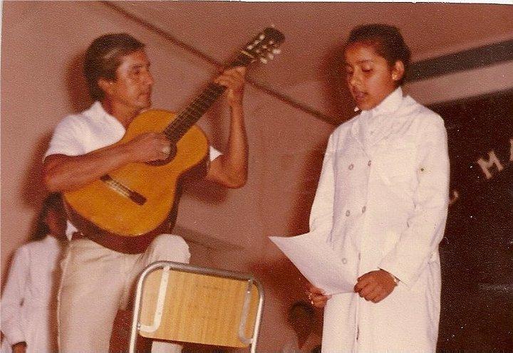 """La Bruja Salguero junto a su padre, """"Tino"""" Salguero."""