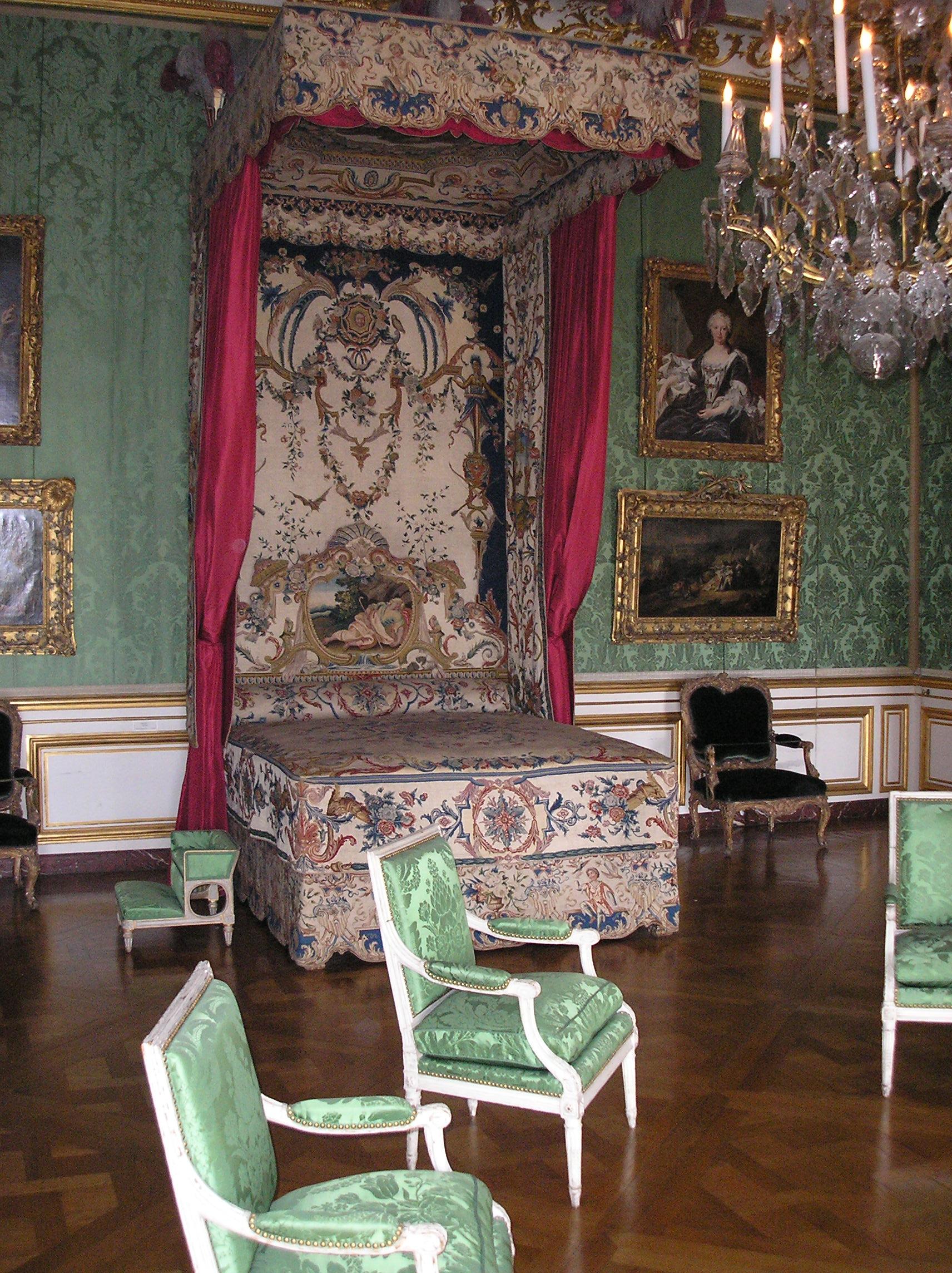 Bett Mit Baldachin Im Schloss Versailles