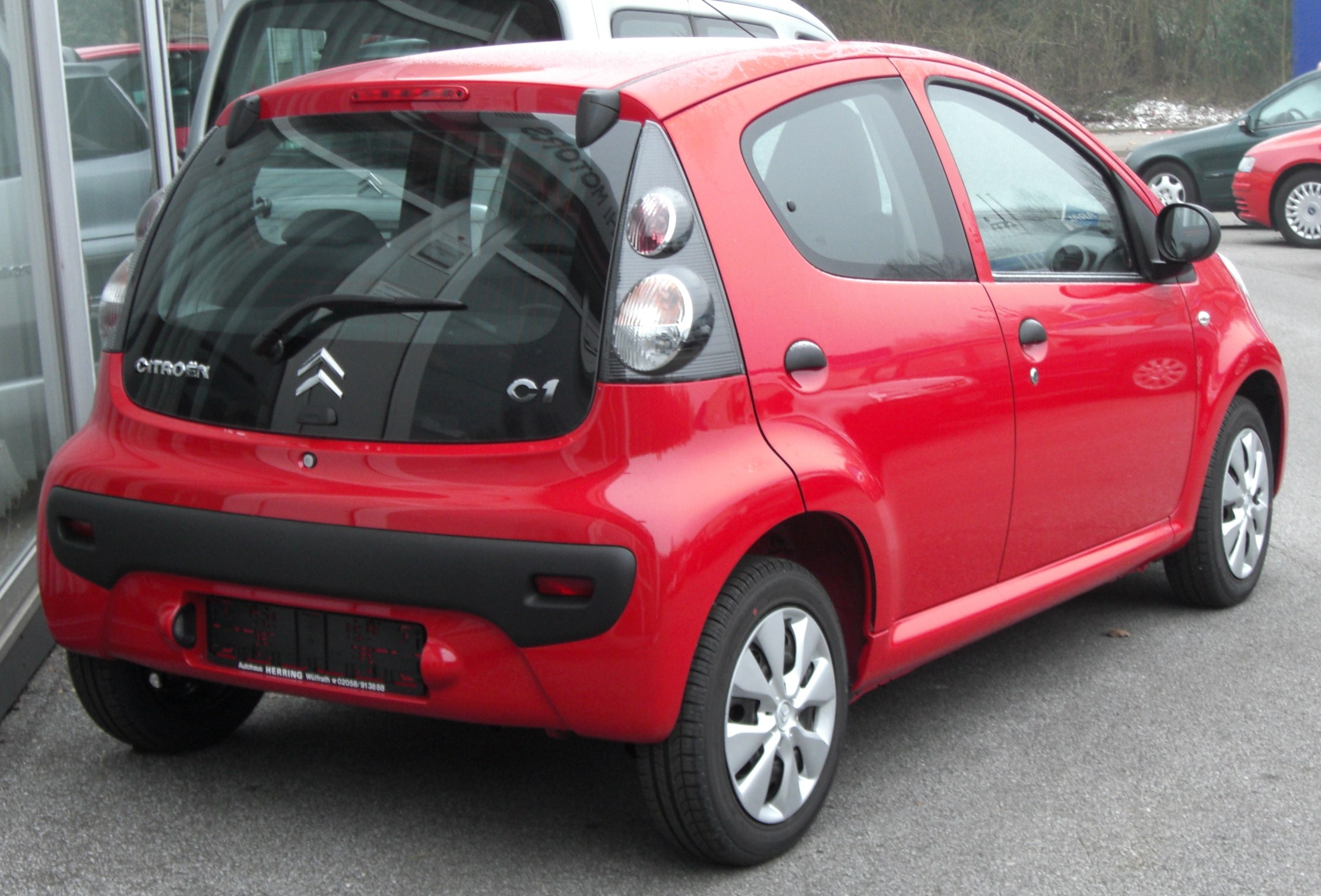 File Citroën C1 Rear Jpg Wikipedia