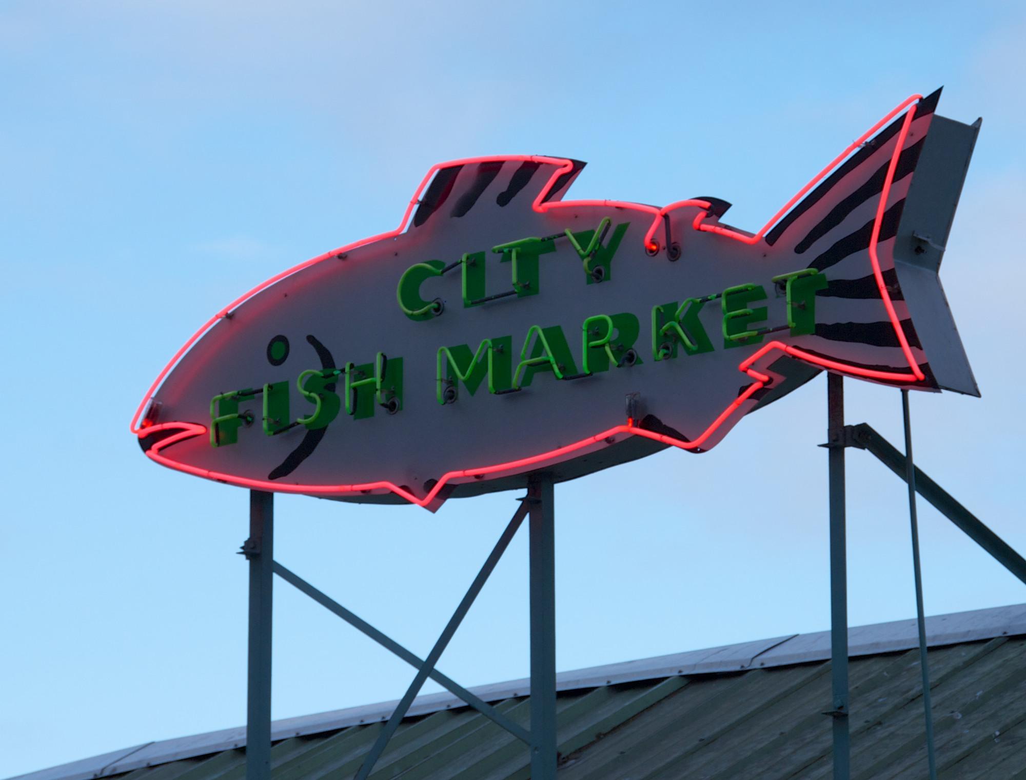 File city fish market sign seattle 9313711975 jpg for Fish market seattle washington
